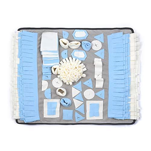 petphabet Schnüffelmatte für Hunde, groß, 71,1 x 66 cm, Hundespielzeug Puzzle-Spielzeug für Hunde, Nasenarbeit, Spielzeug, Schnüffelmatte, langsames Füttern, Futterunterlage, maschinenwaschbar