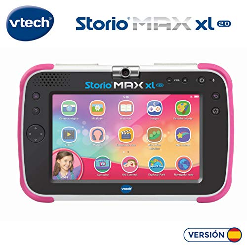 VTech Storio MAX XL 2.0 - Tablet educativo multifunción, color rosa (80-194657)