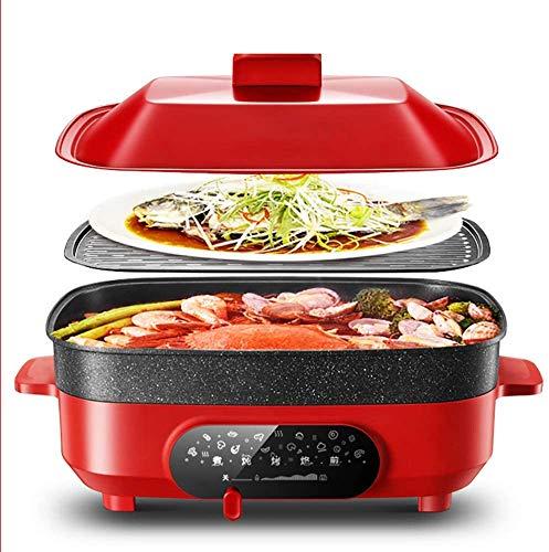 Familia estofado eléctrica 5.5L olla de cocción lenta, sopa, cocido al vapor,...