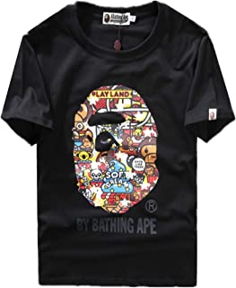 Bape Fashion Summer Cartoon Print Short Sleeve T-Shirt for Men/Women