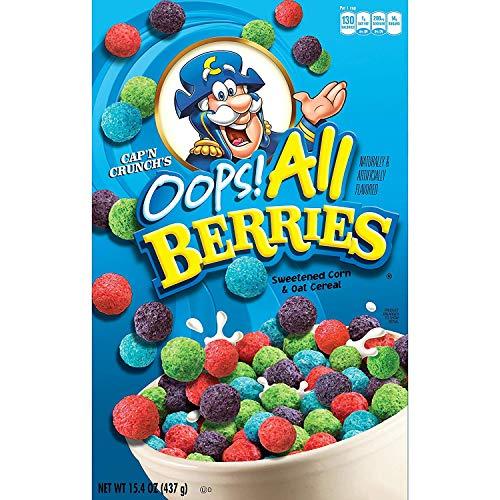 Cap'n Crunch's Oops All Berries Cereal 15.4 Oz Box