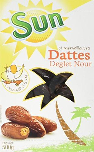 SUN Datte Deglet Nour Coffret 500 g - Lot de 4