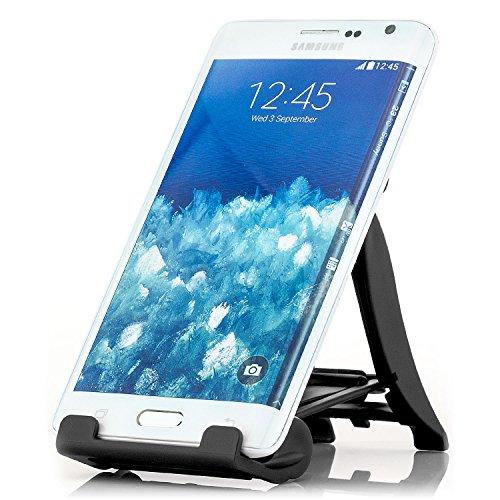 Saxonia Stand Supporto Stand da tavolo per Smartphone, Tablet PC di 4-13 pollici come series iPad, ebook-Reader, Samsung Galaxy Tab, ecc Nero