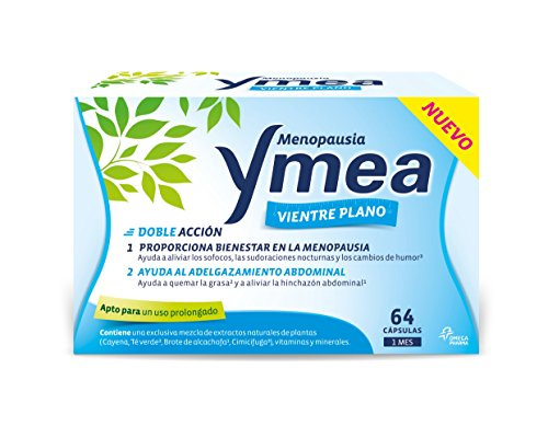 Ymea Menopausia Ventre piatto aiuta ad alleviare i vampati, le sudorazioni e l'addome addominale trattamento 1 mese, 64 capsule bianche