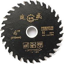 LMIAOM Disco de corte de carburo circular de 110 mm y 4 pulgadas Hoja de sierra Herramienta para trabajar la madera Accesorios de hardware Herramientas de bricolaje