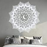 Bohemia etiqueta de la pared mandala vinilo etiqueta de la pared luna y estrellas de pared Mural dormitorio en casa decoración de la ventana ventana pegatinas