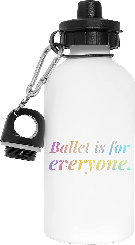 Ballet Is For Everyone Botella de Agua Blanco Aluminio Reutilizable Water Bottle White Aluminium Reusable