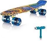 Newdora Skateboard 22' kompletter Mini Cruiser Komplettboard mit...