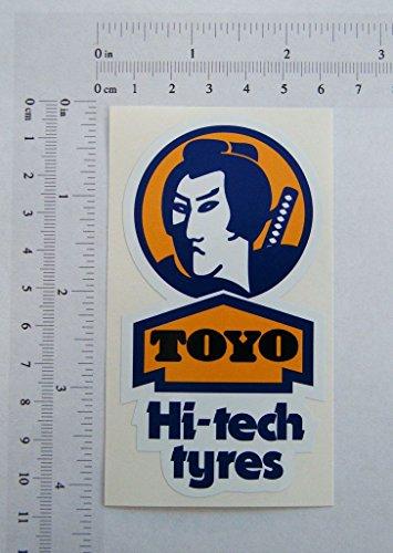 Toyo Autoreifen, farbige Aufkleber, 54 x 101 mm, S153