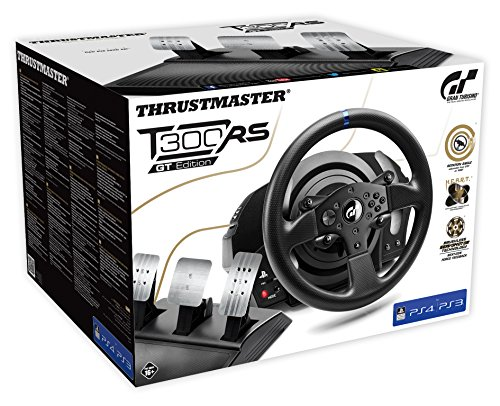 THRUSTMASTER Racing Wheel T300 RS GT T300 RS GT Edition (Volante incl. 3-Pedali, Force Feedback, 270° - 1080°, Eco-Sistema, PS4 / PS3 / PC), 1