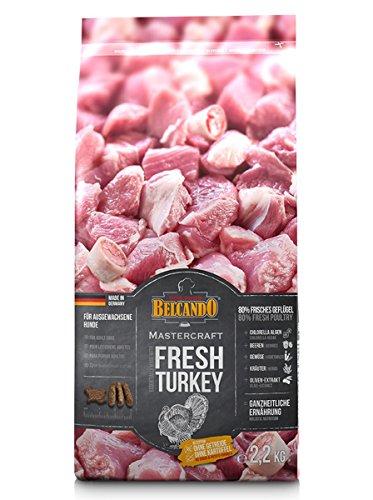 Belcando Mastercraft Fresh Turkey [2,2kg] Trockenfutter für Hunde | 80% Frischfleisch | Hundefutter getreidefrei | für alle Rassen