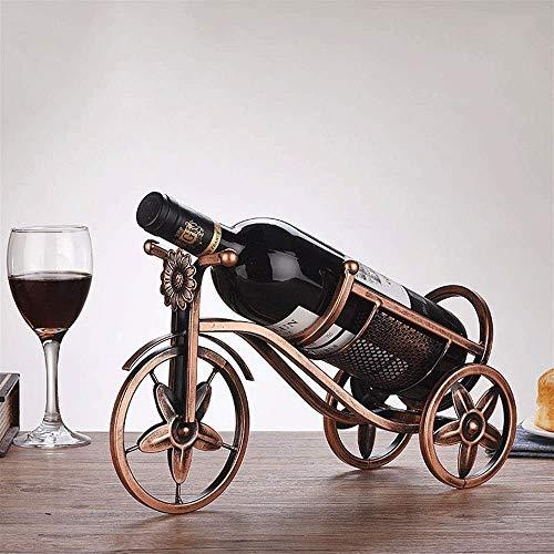 Estante para botellas de vino copas vino encimera Stand-up estante del vino, vino gabinete decorado estante del vino, ideal del arte del hierro productos metálicos, perfecto for el hogar y la decoraci
