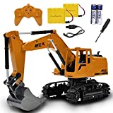 Channel Full Functional Remote Control Excavator Toy with Metal Shovel,...