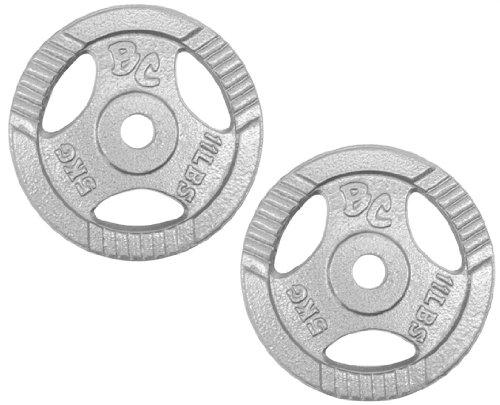 Bad Company Hantelscheiben Guss-Gripper 30/31mm - 10Kg (2x5) Hantelscheiben aus Guss mit Hammerschlag Lackierung