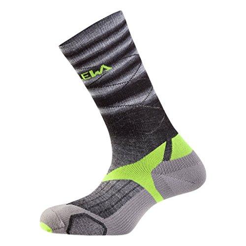 SALEWA Trek Balance VP Sock, Fade Black/Fluo Yellow, 44-46