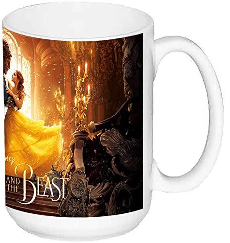 MasTazas La Bella Y La Bestia Beauty and The Beast Emma Watson Dan Stevens Taza Grande Ceramica 15 oz ≈ 443 ml