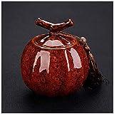 Urna para Cenizas Humanos Mini cremación urnas for Mascotas urnas funerarias urna de cremación for una pequeña cantidad de Cenizas humanas Tanque de Almacenamiento portátil QAF0930 (Color : #1)