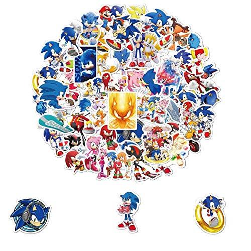 Sonic The Hedgehog pegatinas Anime Pegatina Sonic para computadoras portátiles patinetas Maletas Cascos teléfonos móviles Motocicletas automóviles,Equipaje cuadernos Laptop ordenador carta papelería