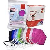 ELIOX 10 Mascherine FFP2 Colorate Certificate CE Mascherina Antipolvere a 5 Strati Maschera Di Protezione Respiratoria (10 pcs)