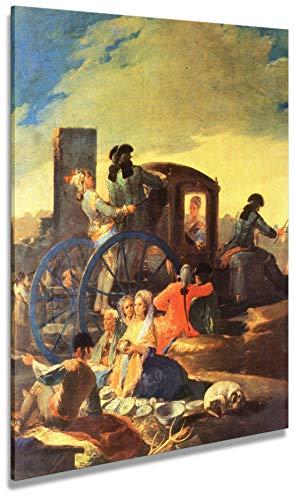 Artenòr Gemälde Goya Francisco Der Verkäufer von Vasellame 1778 – Kunstdruck auf Leinwand Intelaiiert – 98 x 118 cm