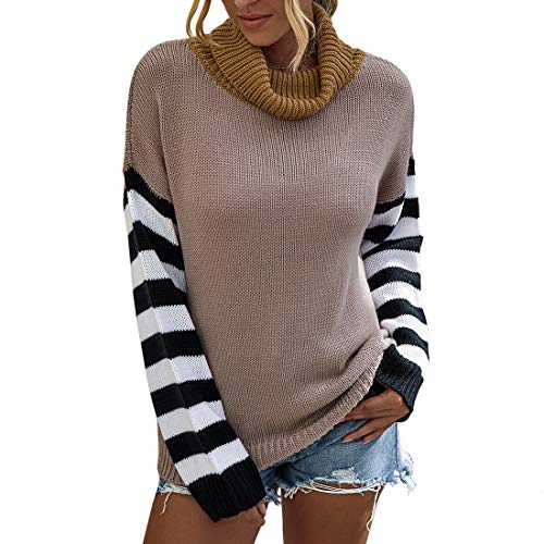 Yczx Sweaters Womens Turtleneck Jumpers Chunky Knit Pullovers Top Casual Autumn Winter Elegant Long Sleeve Sweaters Cozy Soft Knitted Jumpers Daily Life Wear or Work Knitwear M
