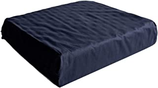 Hermell Wheelchair Egg Crate Seat Cushion with Removable Navy Blue Cover - 3.5 Inches Thick