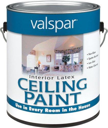 Valspar 1426 Interior Latex Ceiling Paint, 1-Gallon, White
