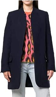 Womens Mid Long Stand Collar Long Sleeve Solid Outdoor Overcoat Woolen Coat
