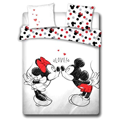 Funda nordica Love Mickey and Minnie Disney algodon cama 135cm