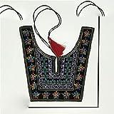 Venta caliente estilo étnico bordado encaje cuello cuello...
