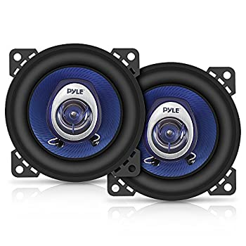 4  Car Sound Speaker  Pair  - Upgraded Blue Poly Injection Cone 2-Way 180 Watt Peak w/ Non-fatiguing Butyl Rubber Surround 110 - 20Khz Frequency Response 4 Ohm & 3/4  ASV Voice Coil - Pyle PL42BL