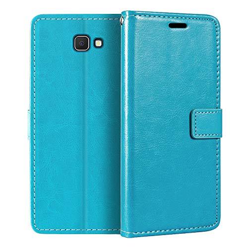 Capa carteira para Samsung Galaxy J7 Prime, capa flip magnética de couro sintético premium com suporte para cartão e suporte para Samsung Galaxy On7 2016