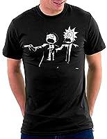 Million Nation Pulp Rick and Morty Fiction – Camiseta Negro M