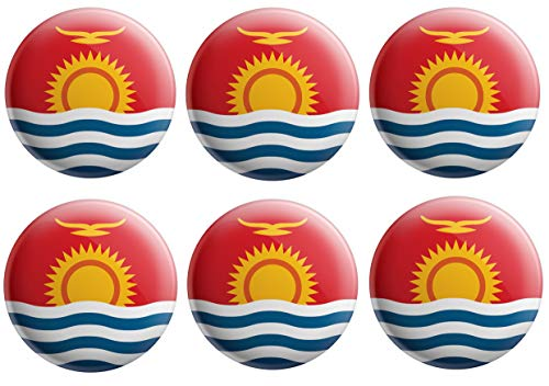 AK Giftshop Kiribati Flaggen-Anstecker – Partytütenfüller – Veranstaltungen – Feiern – Sammler – Dekorationen – Sockenfüller (12 Stück)