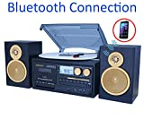 Boytone BT-28SPG 3-Speed Bluetooth Turntable System, Front Loading...