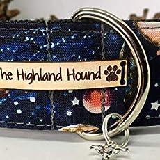 Harris Tweed Campfire 2 Martingale Dog Collar Greyhound Lurcher Sighthound Whippet Small Medium Large