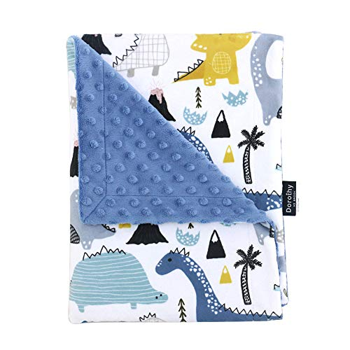 """NS Brook Baby Blankets 28"""" x 40"""" Unique Design Soft Minky Blanket for Newborns Nursery Stroller Receiving Toddlers Crib Bedding for Boy or Girl"""