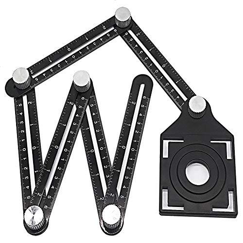 housesweet Winkelschneider Schablone Werkzeug Fliesenloch-Lineal Messgerät Winkelmesser Handwerker Holzbearbeitung