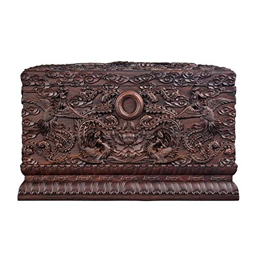 Protect The Life Box Wooden Urns for Human Ashes, Cremation Urn Unique and Exquisite Shape Store in Living Room Bedroom (Rosewood, 400 Cubic Inches) Funeral Supplies