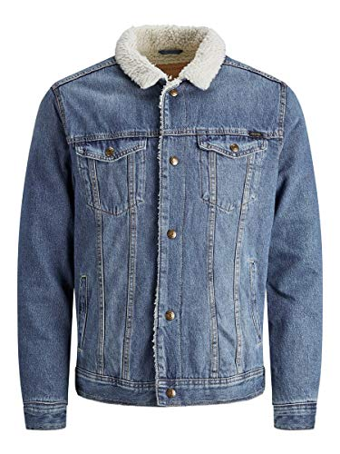 JACK & JONES Herren Jjijean Jjjacket Cr 140 STS Jeansjacke, Blau (Blue Denim Blue Denim), X-Large (Herstellergröße: XL)