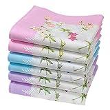 """Damentaschentücher aus Baumwolle - 6 Stücke - Modell """"Abby"""""""