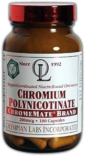 Olympian Labs Chromium Polynicotinate, Chromemate, 200mcg