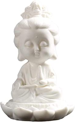 YsKYCA Statues,Figurine Ornament Accessories Figurine Feng Shui 1Pcs Buddha Ceramic Tathagata Avalokitesvara Zen Car Lucky Buddha Feng Shui -A