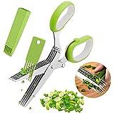 Kräuterschere Küchenschere Edelstahl Scissors Herb mit 5 Klingen,Kräuter Schere...