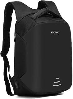Kono Mochila de viaje para ordenador portátil, antirrobo de negocios, con puerto de carga USB, resistente al agua, mochila...
