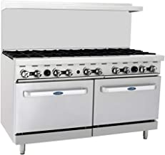 CookRite ATO-10B Commercial Manual Natural Gas Range 10 Burner Hotplates With 2 Standard Ovens 60