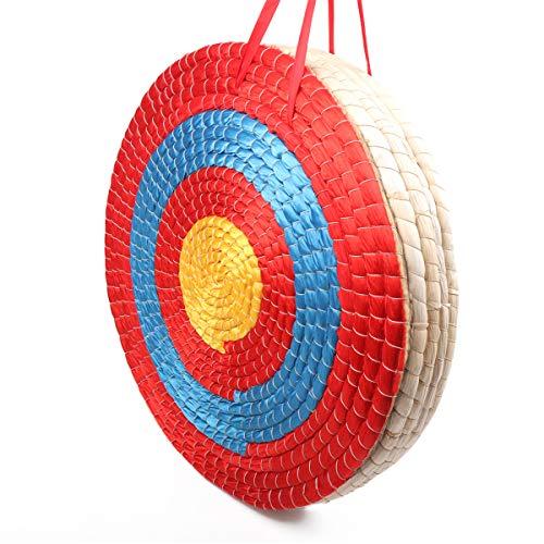 Arco de tiro en arco para exteriores de 50 x 50 cm, tradicional y artesanal, paja fija, objetivo redondo para la práctica al aire libre, arco de tiro y flecha, Cinco capas.