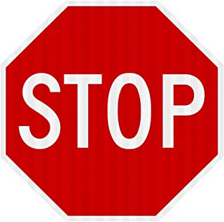 STOP SIGN Street road Sign 30 x 30. A Real Sign. 3M Prismatic.
