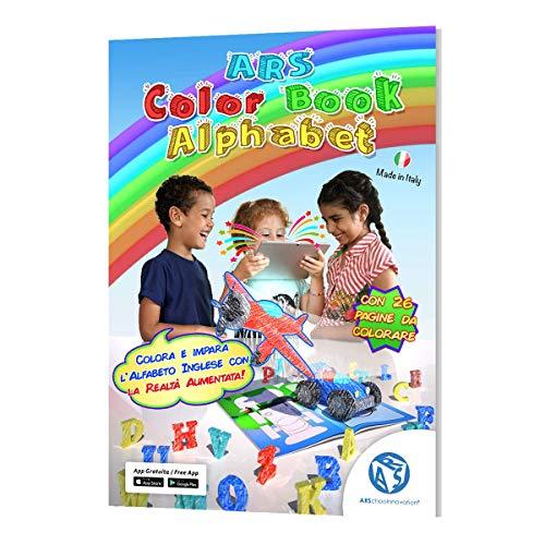 ARSchooInnovation Libro da colorare in Realtà Aumentata - Libri da colorare per Bambini - Impara l'inglese in Modo Super RAPIDO - Gioca e impara - Effetto Wow garantito