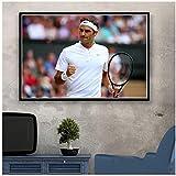 A&D Roger Federer Tennisspieler Poster Wandkunst Bild